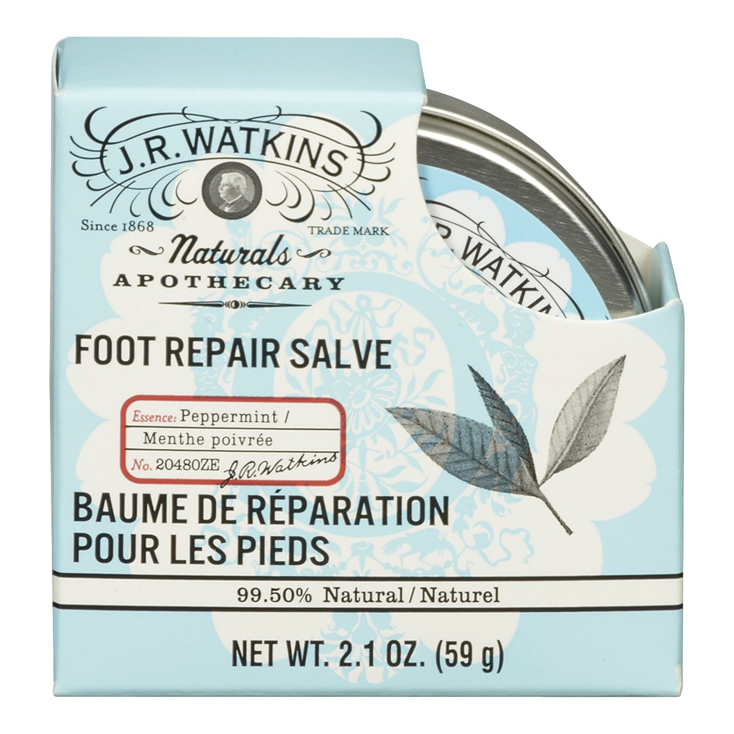 J.R. Watkins Foot Repair Salve, Peppermint, 2.1 Ounce 20480