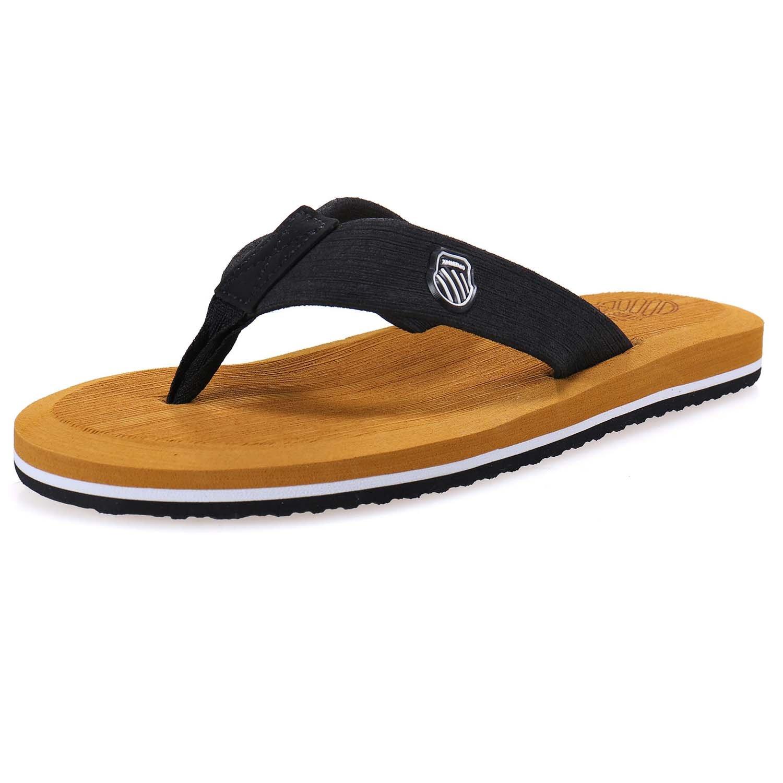 norocos Mens Sport Sandals Lightweihgt Flip-Flops Slippers by norocos
