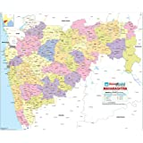 Maharashtra Map [Printed on Vinyl] (70 x 84 cm)