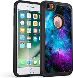 iPhone 6 case,iPhone 6s case,Rossy Galaxy Nebula Space Design Shock-Absorption Dual Layer Hard PC and Soft Silicone Heavy Duty Bumper Protective Case Cover for Apple iPhone 6/6S 4.7 Inch