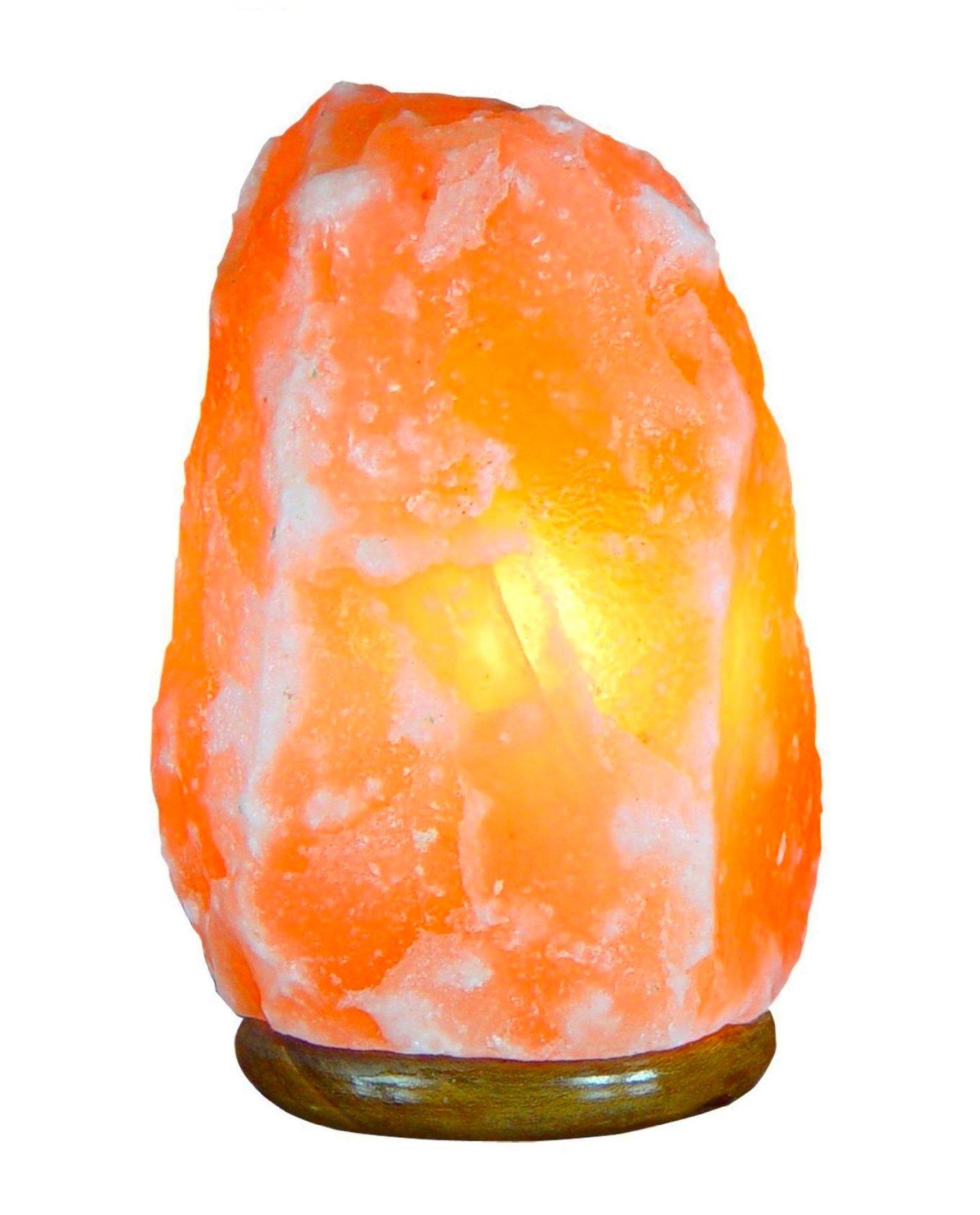 Bel Air Naturals Himalayan Salt Lamp - Hand Carved Natural Pink Hymilian Salt Rock Crystal Hymalain Salt Lamps - Premium Quality Genuine Wood Base - UL Listed Brightness (Himalayan Salt Lamp 7-9)