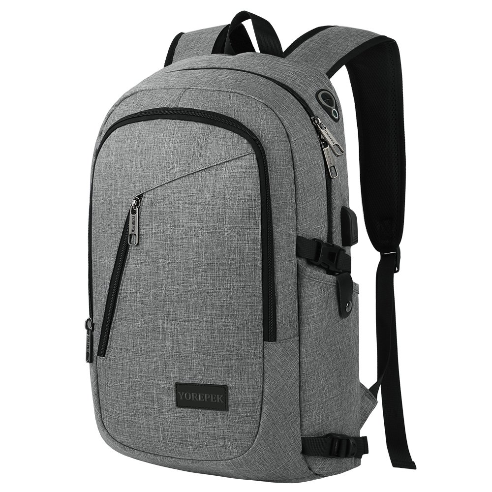 Multi New Zikee Laptop Bag Functional Computer Shoulder Bag Grey 15-15.6 Inch