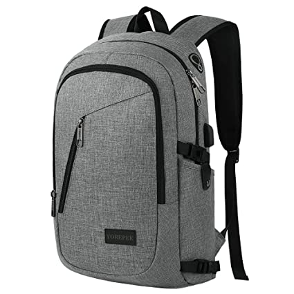 7acb50ff2a63 Business Laptop Backpack, Travel College School Computer Bag with USB  Charging Port Headphone Interface,Water Resistant Bookbag for Boys Girls  Women ...