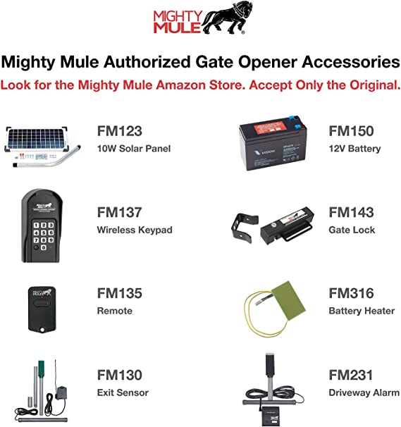 Gate Hardware Mighty Mule MM560 18 850# HDTY SGL OPENER Single ...