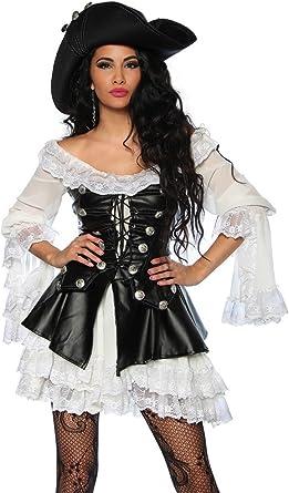 Disfraz de alta calidad Set pirata para Carnaval y con vestido ...