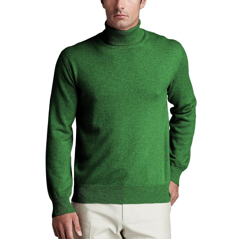 Parisbonbon Men's 100% Cashmere Turtleneck Sweater at Amazon Men's ...