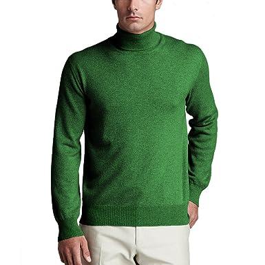 Parisbonbon Men's 100% Cashmere Turtleneck Sweater Color Apple Green Size 0X