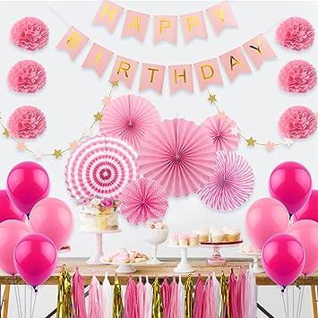 Amazon.com: Fiesta de cumpleaños suministros y decoración ...