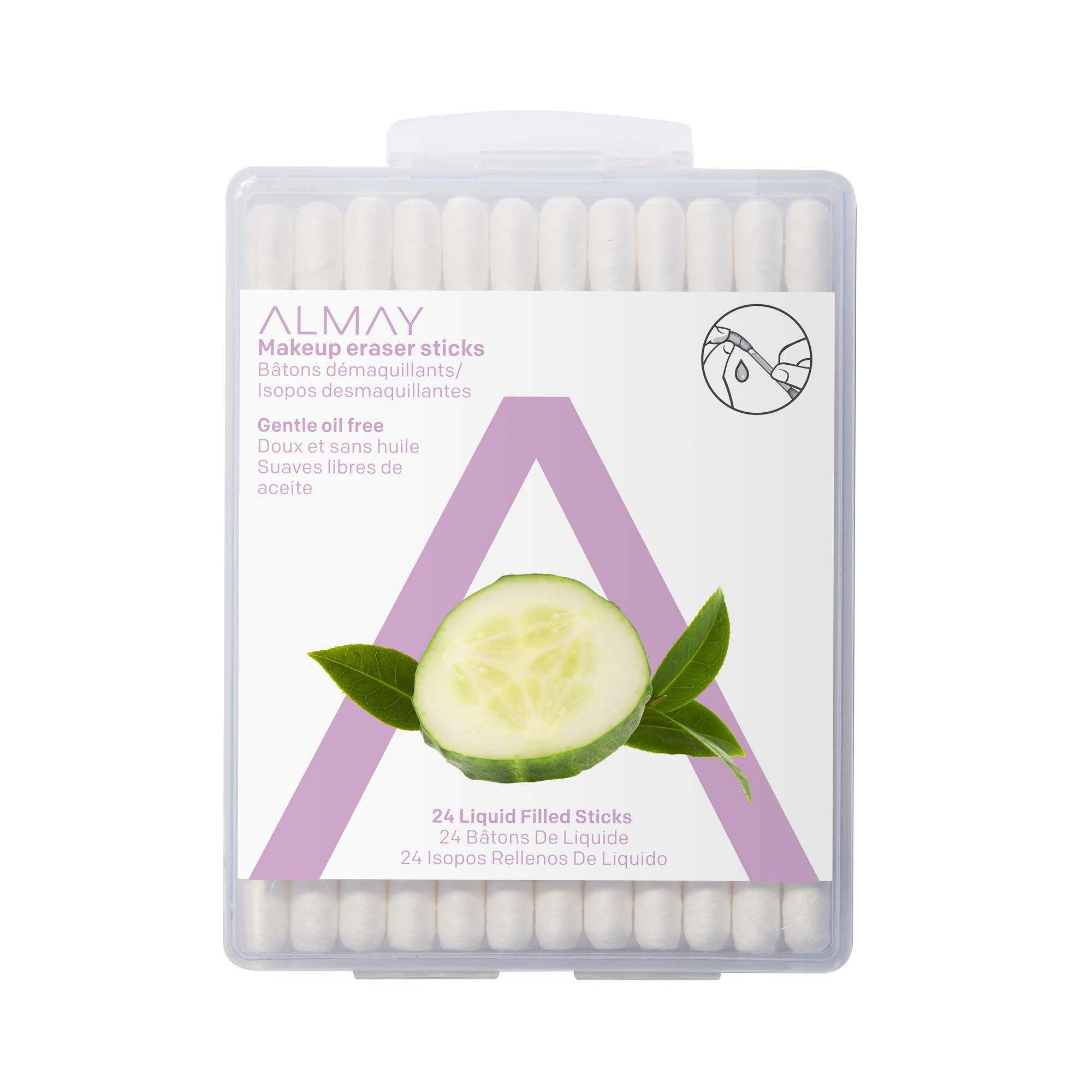 Almay Oil Free Makeup Eraser Sticks , 24 sticks, oil free make up remover