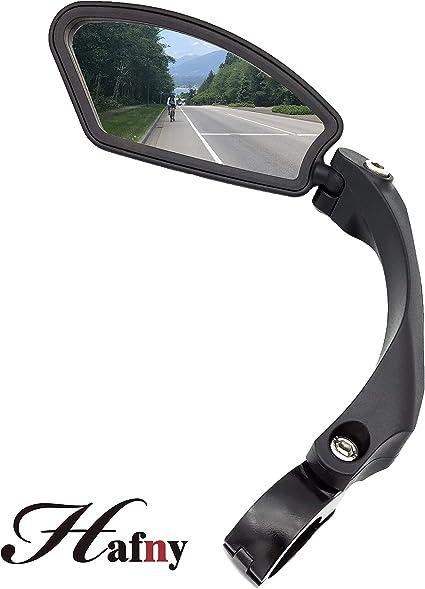 Left Hafny HF-MR081 Cycling Wide Angle Handlebar Rear View Mirror With Reflecto
