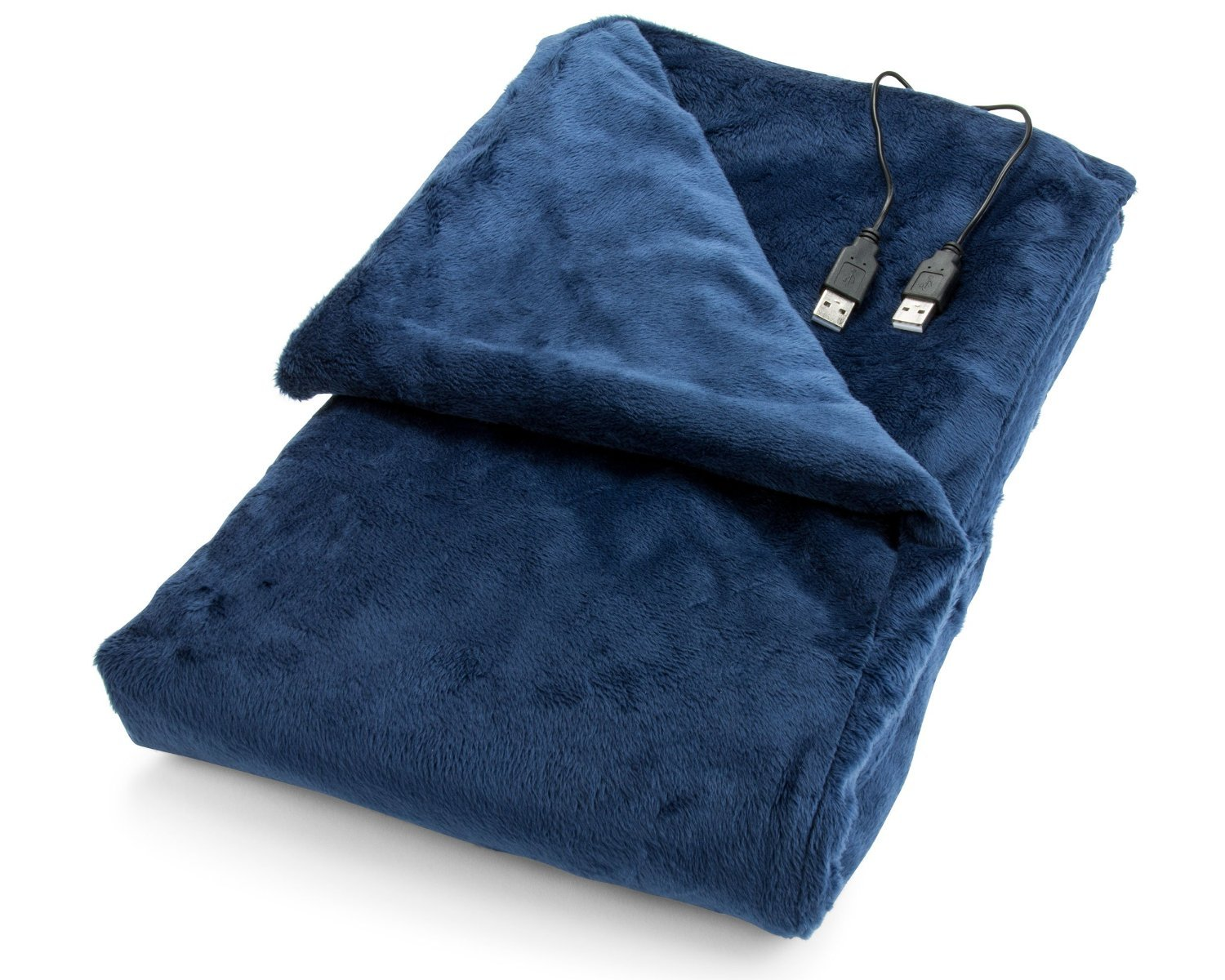 USB Heated Shawl and Lap Blanket - Blue Color - USB Heated Throw Perfect Alternative to a Mini Office Desk Heater
