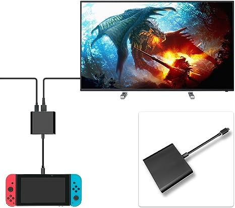 FastSnail HDMI Tipo C Hub adaptador para Nintendo Switch, HDMI Convertidor Dock Cable para Switch (Negro): Amazon.es: Electrónica