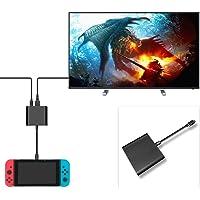 Adaptador tipo C FastSnail, HDMI, con base, para Nintendo Switch, conversor de puerto HDMI con cable para Nintendo Switch, negro