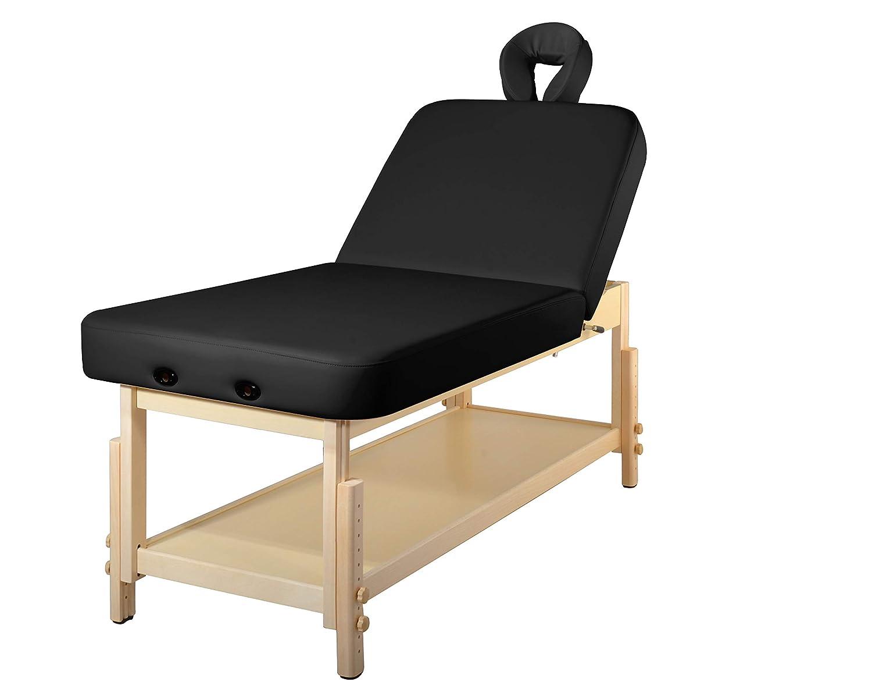 MT Harvey-Tilt Liftback Tilting Backrest Salon Stationary Massage Beauty Table Black