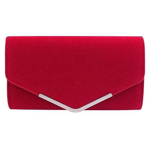 0584cc789 WISEUK Elegante bolso de embrague del sobre del ante del terciopelo de las  mujeres bolso del