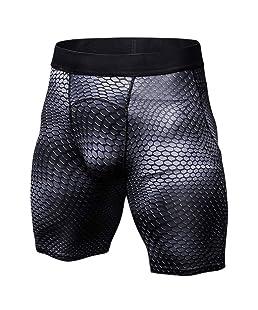 Exing pantalón de Deporte para Hombre–Pantalón de compresión para Gimnasia Pantalones Cargo pantalón Corto de Deporte Échelle Noir L