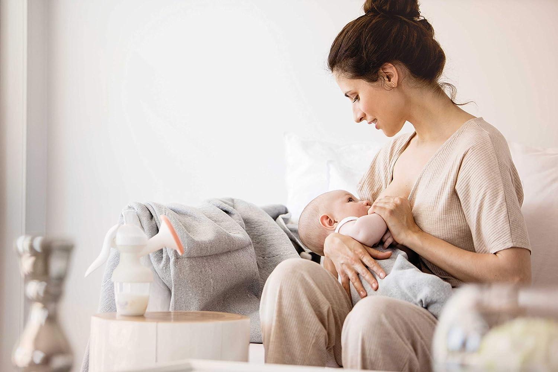 nip/® first moments Handmilchpumpe Brustpumpe mit verschieden starken Pumpintensit/äten All-in-One System,150 mL Inhalt
