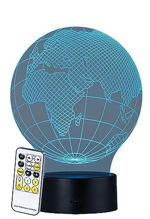 Lunartec Hologrammlampe: 3D-Hologramm-Lampe mit Leuchtmotiv \