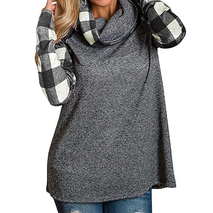 enorme sconto 067dc c3c4a ASHOP Abbigliamento Donna Inverno, Top a Collo Alto da Donna ...