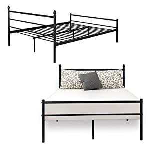 Reinforced Metal Bed Frame Queen Size
