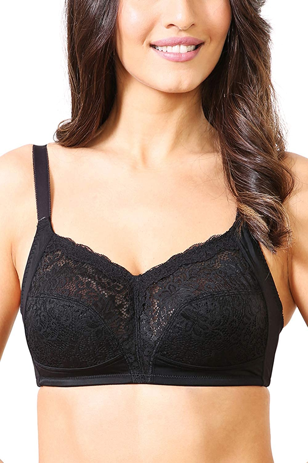 df41c0be3d1 Van Heusen Women s Non Padded Non Wired Full Support Plus Size Bra   Amazon.in  Clothing   Accessories