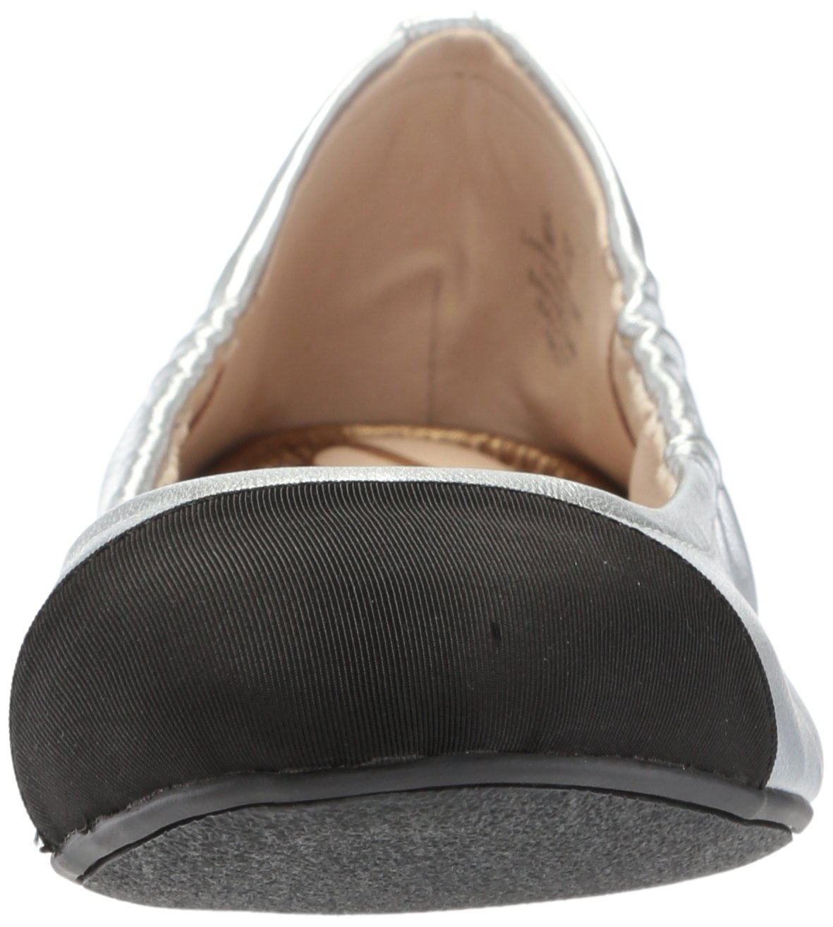 Sam Edelman Women's fraley Ballet Flat, Soft Silver/Black, 7 Medium US by Sam Edelman (Image #4)