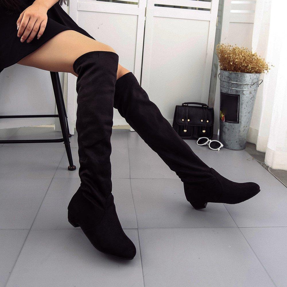 a4a46324c50aab Femme Kaiki Hiver Boots,Botte Plate Automne Hiver pour Femme,Taille 35-43  K181201AA1501