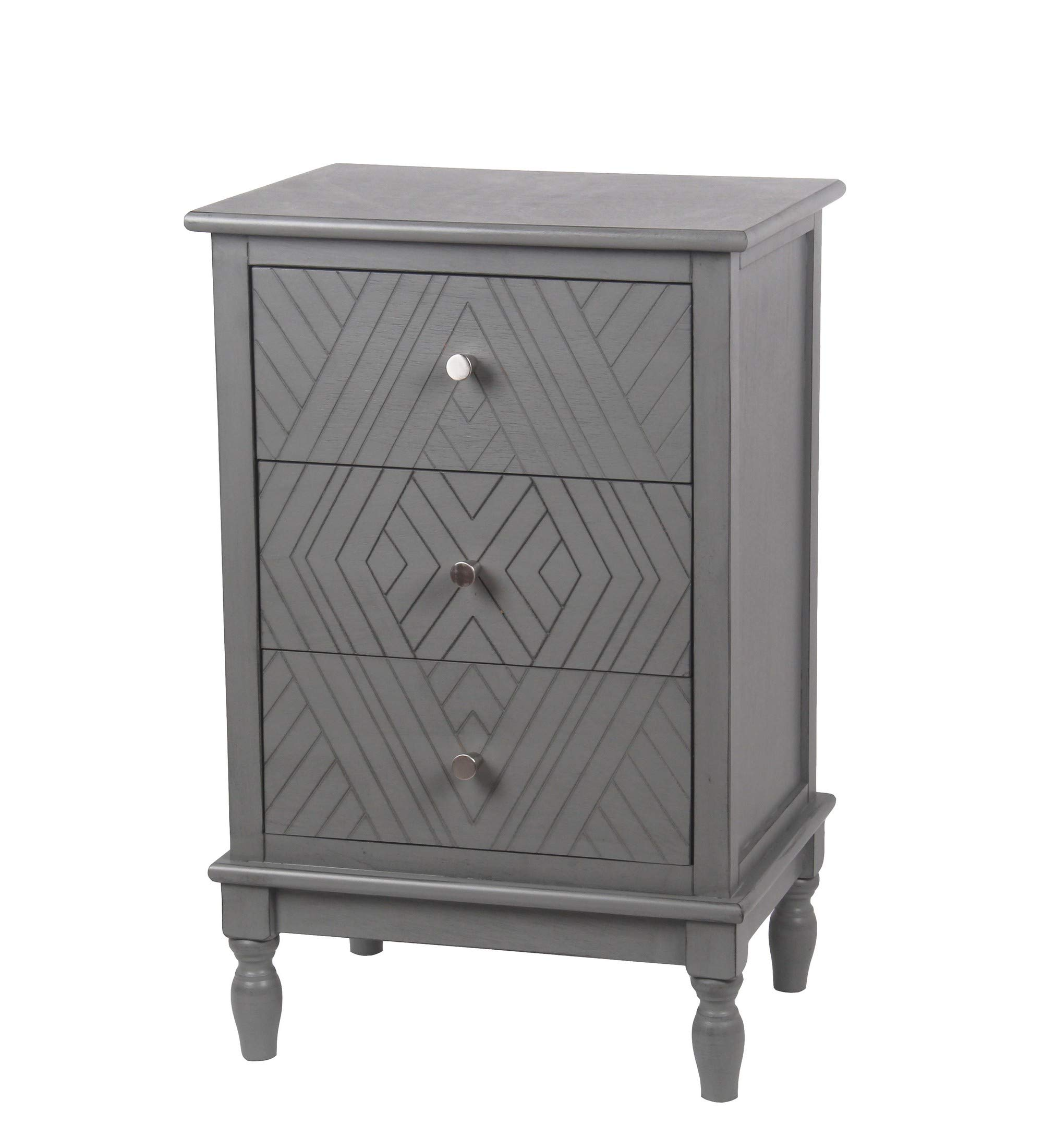 Privilege Vendee Gray 3 Drawer Accent Chest 28649 by Privilege