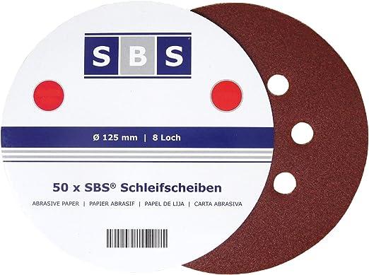 75 Blatt Exzenterschleifscheiben Ø 125 mm Korn 120 Exzenter Schleifpapier Klett