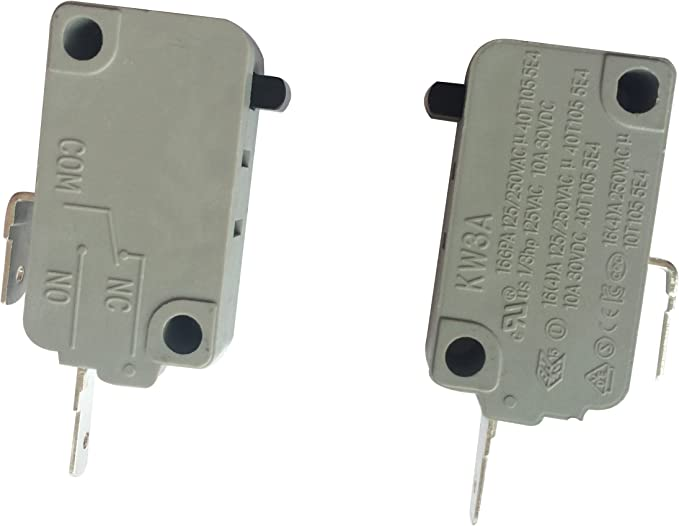 LONYE KW3A Microwave Oven Door Switch for Microwave DR52 16A 125/250V(Normally Open & Normally Close)