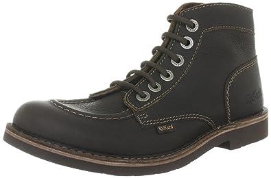 Boots KICK STONEà lacets KICKERS homme cuir marron XBXVM