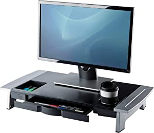 Fellowes Office Suites Premium Monitor Riser, Black/Silver (8031001)