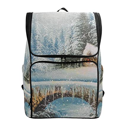 76e26865a7dc Amazon.com: Laptop Backpack Oil Painting House School Backpack for ...