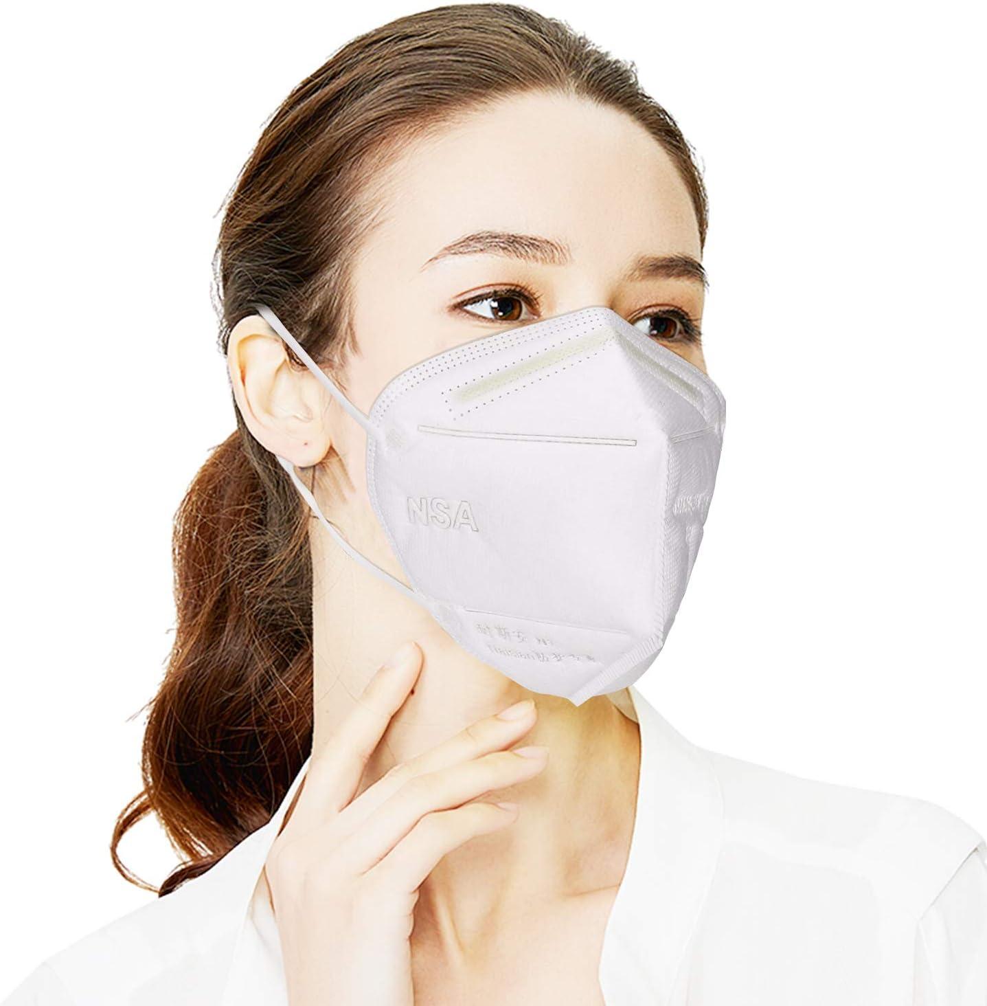 Ggdoo Boca Máscara KN90 4-Capa de la mascarilla del Adulto Anti-Niebla Haze Prueba de Polvo de la máscara a Prueba de Viento PM 2,5 Máscara Anti-Partículas de Polvo
