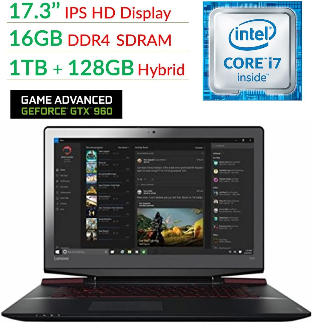 "Lenovo Ideapad Y700 17.3"" FHD Flagship High Performance Gaming Laptop PC 