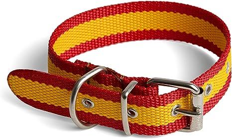Collar Bandera España para Perro 3x55cm: Amazon.es: Deportes y ...
