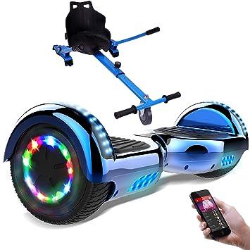"""RCB Patinete Eléctrico Scooter de Auto-Equilibrio Luces LED Integradas con Hoverkart Go-Kart Bluetooth Regalo para Niños y Adultos UL2272 6.5"""""""