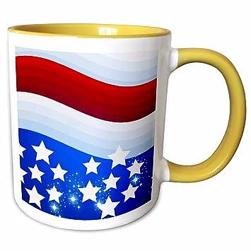 f30a6a59b12a 3dRose Dooni Designs Patriotic Designs - USA Patriotic Red White Blue Flag  Stars And Stripes 4th