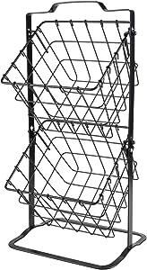 TQVAI 2 Tier Countertop Metal Fruit Storage Basket Multipurpose Rack for Holding Veggies, Snacks, K-Cups, Sundries, Black