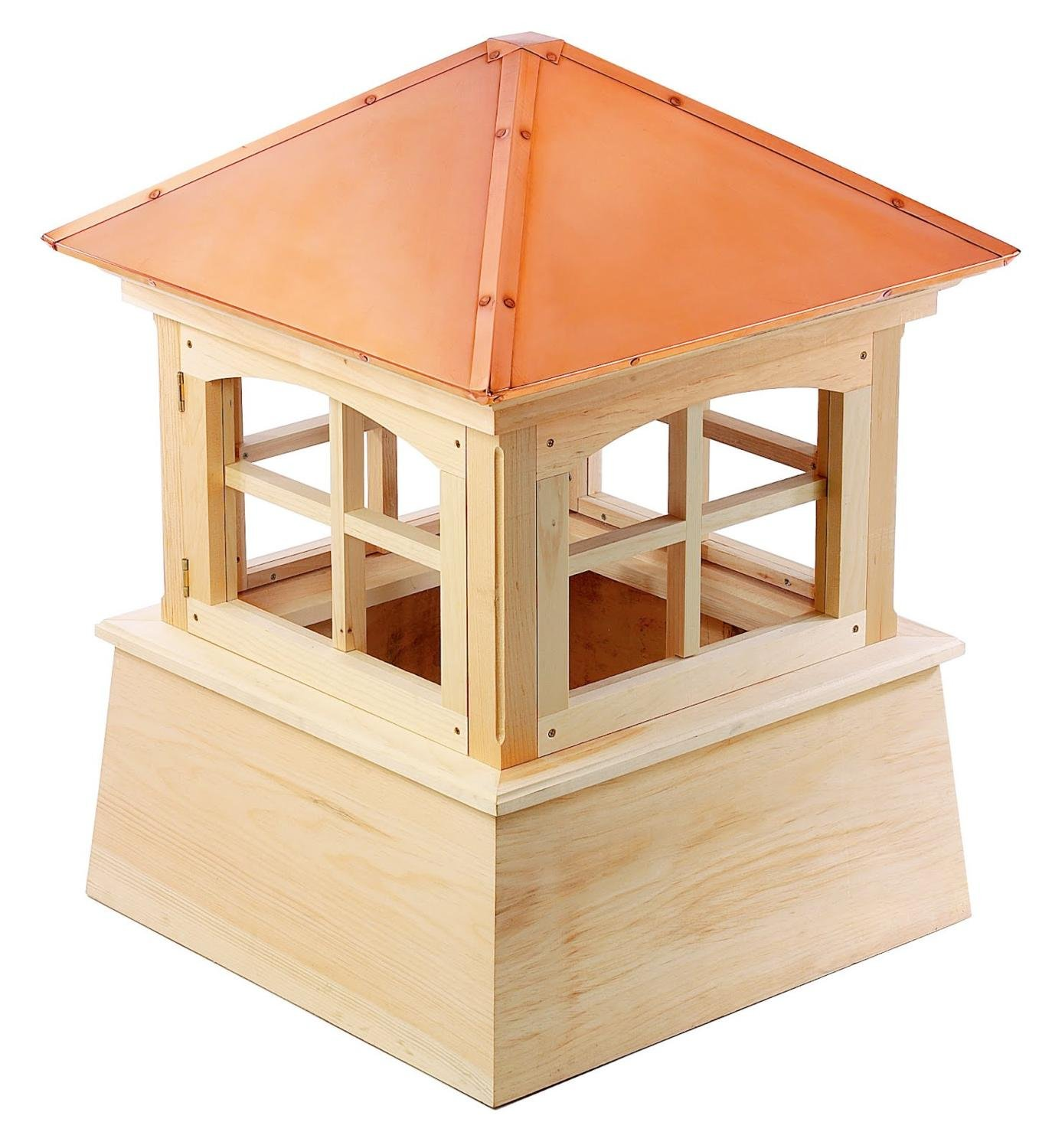 68'' Handcrafted ''Charlotte'' Copper Roof Wood Cupola