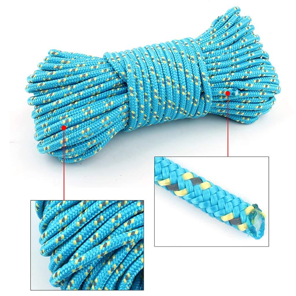 B YYHSND Corde à Linge pour Corde à Linge diamètre de Corde à Linge 5mm10M20M50M Corde d'alpinisme (Couleur   B, Taille   50m) 20m