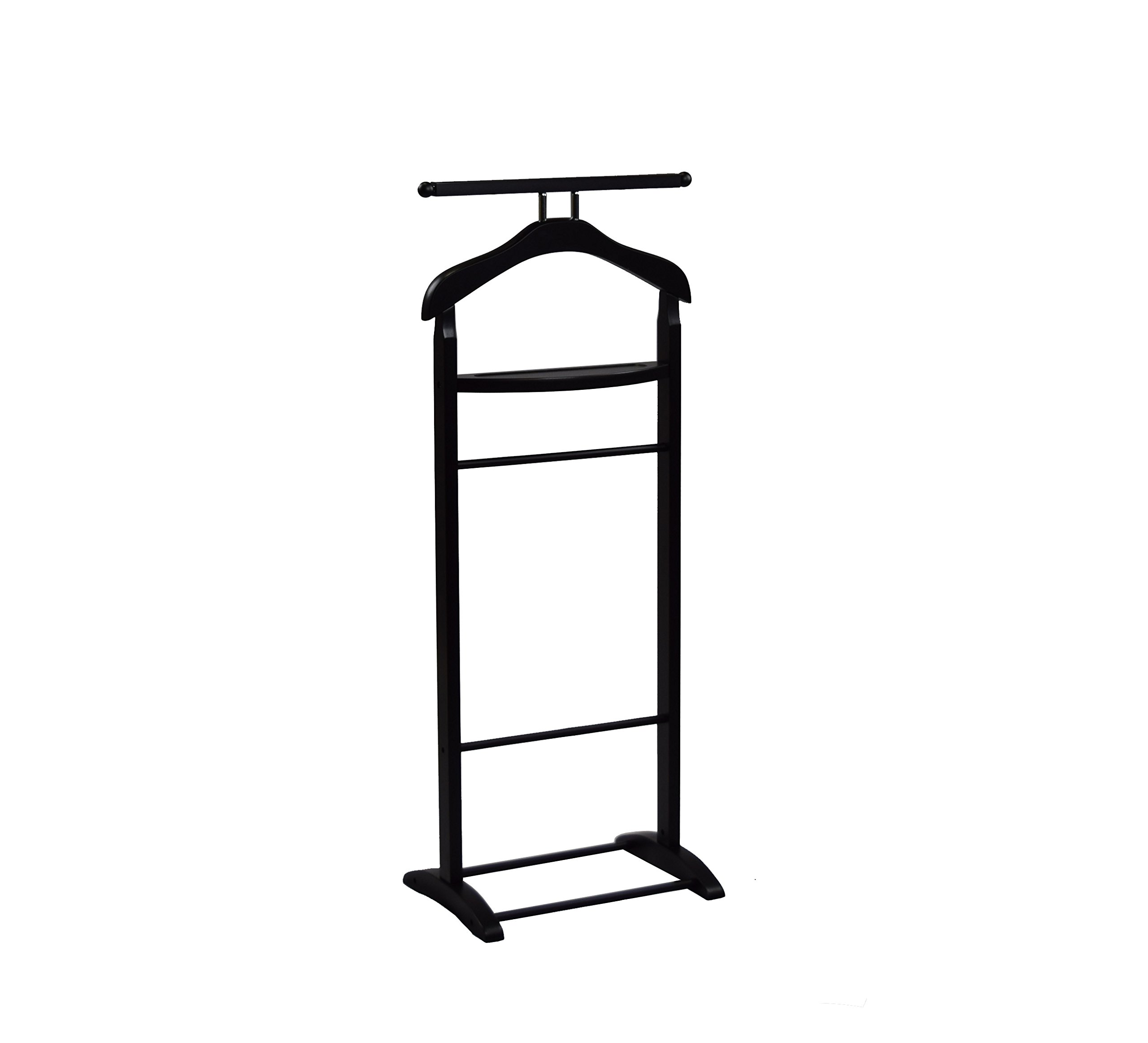 Proman Products VL17016 Knight Valet with Extended Bar and Key Rack, 43.5'', Black
