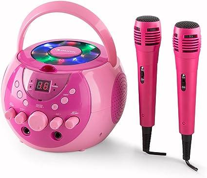 auna SingSing - Karaoke para niños, Set de Karaoke, 2 x micrófonos ...