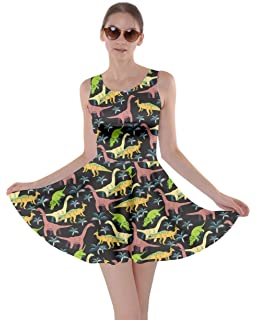 CowCow Womens Tyrannosaurus Triceratops Rex Dinosaur Jurassic World Skater  Dress b6751e315