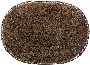 Lmtime Bathroom Rug Non-Slip, Machine Wash, Absorbent Microfiber Entry Way Door Mat, Oval Shape Bath Rug for Indoor Outdoor Use