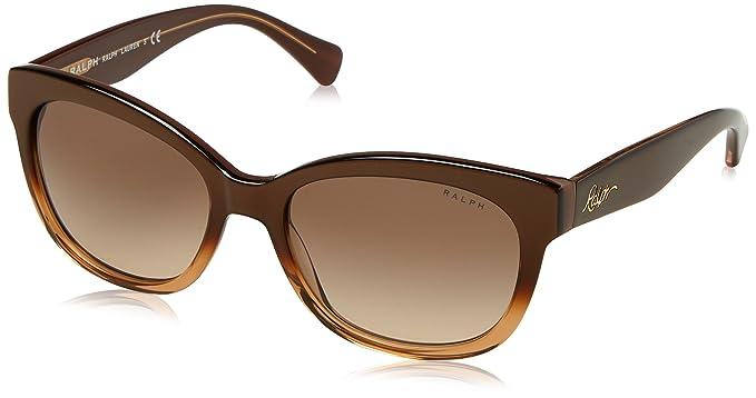 Ralph By Ralph Lauren Peaked Square Sunglasses in Brown Gradient RA5218 15816G 55 Ralph Lauren O8P0rLRPTH