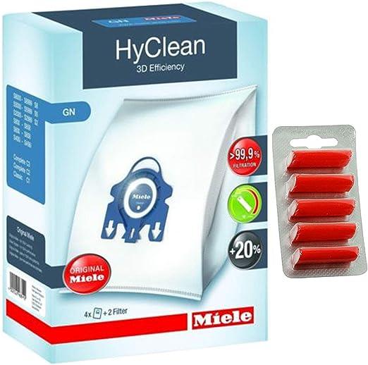 Miele HyClean 3D - Bolsas para aspiradora Miele originales, incluye ambientadores gratis: Amazon.es: Hogar