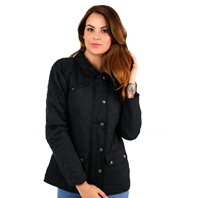 Simply Chic Outlet - Chaqueta - chaqueta guateada - para mujer Negro negro