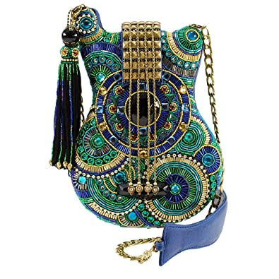 MARY FRANCES Blue Note Beaded Cross-Body Mosaic Guitar Handbag  Handbags   Amazon.com 06380d9002676