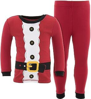 Komar Kids Little Boys Christmas Red Santa Cotton Pajamas